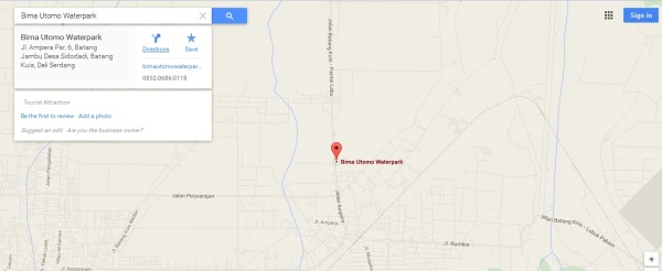 Peta Google Maps Bima Utomo Waterpark